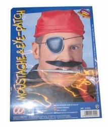 Piraten snor + ooglapje