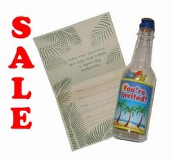 Flessen post met brief papier