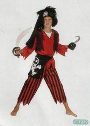 "Piratenkostuum  "" Zwart / rood """