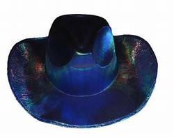 "Cowboyhoed  "" Glans ""  Blauw / paars"