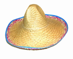 """Mexicaanse hoed  """" Gekleurd rand """""""