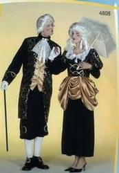 Rococo marine jurk