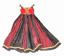 "Jonkvrouw jurk  "" Zwart / rood / goud """