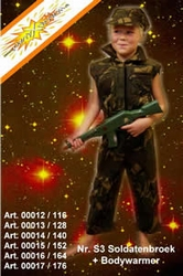 Soldaten kostuum