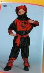 "Ninja  "" Rood / zwart """