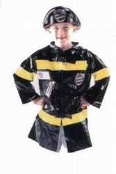 "Brandweerman jas  "" Zwart """