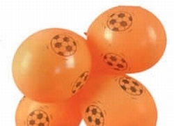 "25 Oranje ballonnen  "" Voetbal """