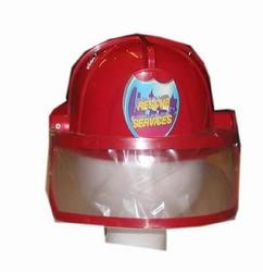 """Brandweer helm met klep  """" Rood """""""
