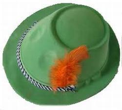 """Tiroler hoed  """" Plastic """""""
