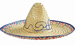 "Sombrero hoed  "" Blank / gekleurde rand """