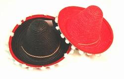 """Mexicaanse hoed  """" Met balletjes """"  Kind"""