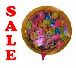 "Folie ballon  "" Happy Brithday  Clown ``"