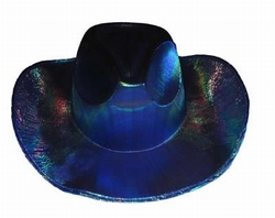 "Cowboy hoed  "" Glans ""  Blauw / paars"