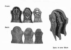 Grafsteen  RIP  3-delig