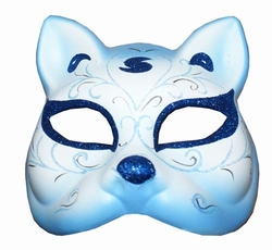 "Venetiaanse masker  "" Kat ""  Blauw"