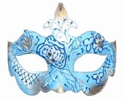 """Venetiaanse oogmasker  """" Blauw / zilver """""""