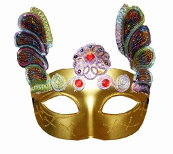 """Venetiaanse oogmasker  """" Goud / gekleurd """""""