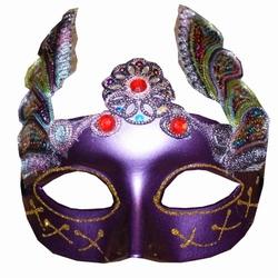 """Venetiaanse oogmasker  """" Paars / gekleurd """""""