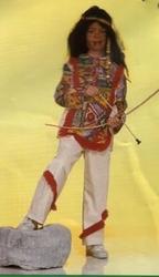 """Indianen kostuum """" Beige / rood """""""