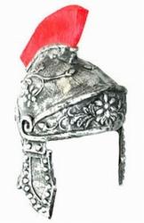 "Ridder helm met rode kam  "" Rubber """