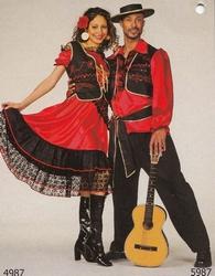 "Zigeunerin  "" Rood / zwart """