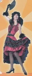 "Saloon girl  "" Rood / zwart """