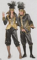 "Pierrot  "" Zwart / goud """