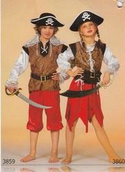 """Piraten jongen  """" Bruin / rood """""""