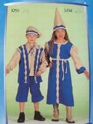 "Jonkvrouw  "" Beige / blauw """