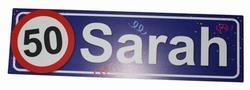 "Huldebord   "" 50 Sarah """