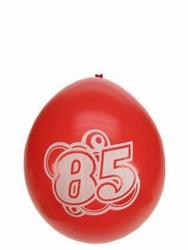 """Ballonnen 8 stuks  """" 85 jaar """""""