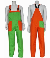 """Tuinbroek  """" Groen / Oranje """""""