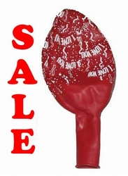 "Extra grote ballon  "" I love you ""  Rood"