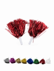 "Cheerleader pompon  ""  Metalic  Multi  """