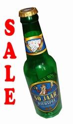 """Drankfles met bierspel  """" 50 jaar """""""