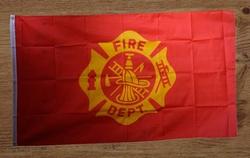 """Brandweer gevelvlag """" Fire Dept """""""