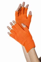 """Vingerloze handschoenen  """"  Neon oranje """""""