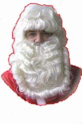 Kerstman baard + pruik luxe