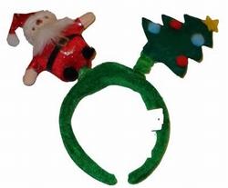 Diadeem Kerstman + kerstboom licht + geluid