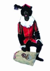 """Zwarte piet  """" Zwart / rood """"  luxe"""