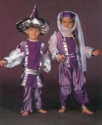 """Sultan kostuum """" Paars / zilver """"   ( jongen )"""